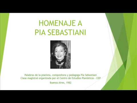 Homenaje a Pía Sebastiani