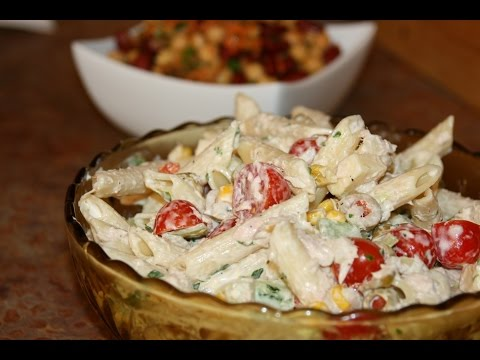 salade froide de p tes cold pasta salad youtube. Black Bedroom Furniture Sets. Home Design Ideas