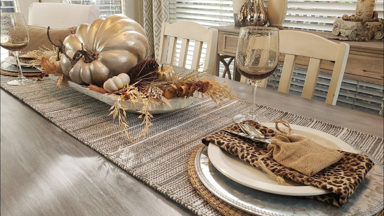 THRIFT HOME DECOR FINDS WITH STYLING, NEW HOMEGOODS TABLE, PLUS FALL TABLESCAPE
