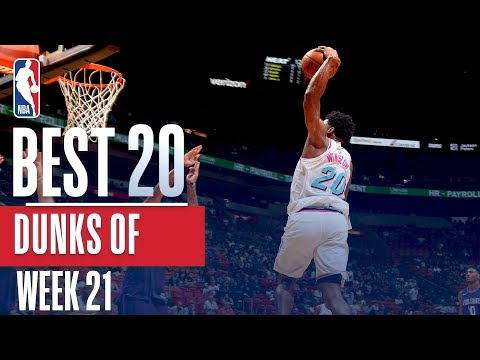 Best 20 Dunks From Week 21 of the NBA Season (Javale, Dwight, Smart and more!)