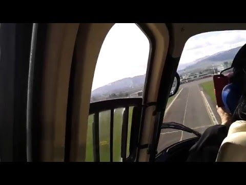 Helicopter landing in Poprad airport Slovakia