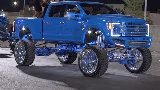 Lifted Trucks at the SEMA Show Cruise 2019