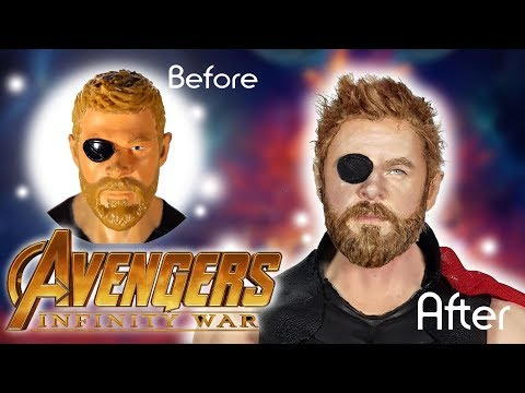Avengers Infinity War Thor Custom Doll Tutorial // DIY Thor Repaint