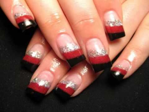 nail art design red color