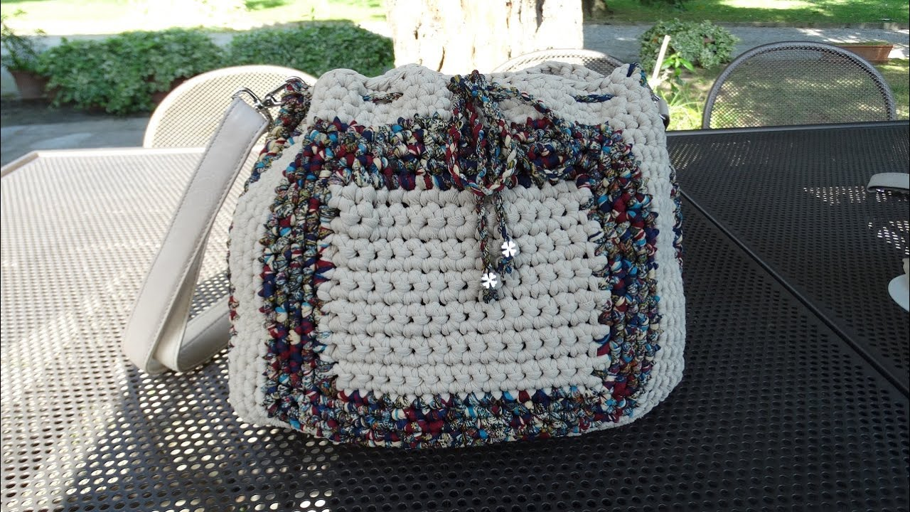 Tutorial bolso trapillo crochet adelhandmade youtube for Bolso crochet trapillo