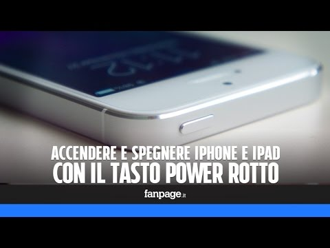 tasto power iphone 5 rotto