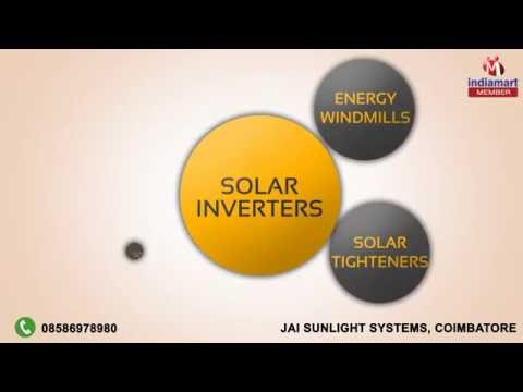 Energy Saving Solar Products by Jai Sunlight Systems, Coimbatore