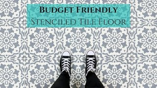 How-To Transform Your Tile Floor Only Using a Stencil!
