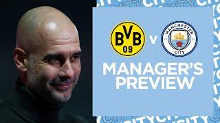 Press Conference | Pep Guardiola & Ilkay Gündogan | Dortmund v Man City | UEFA CHAMPIONS LEAGUE