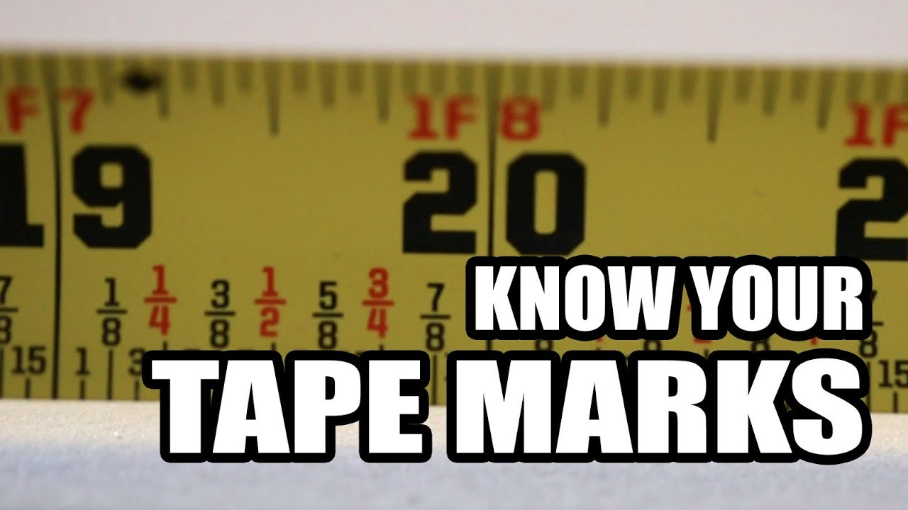 What The Marks On A Tape Measure Mean Youtube
