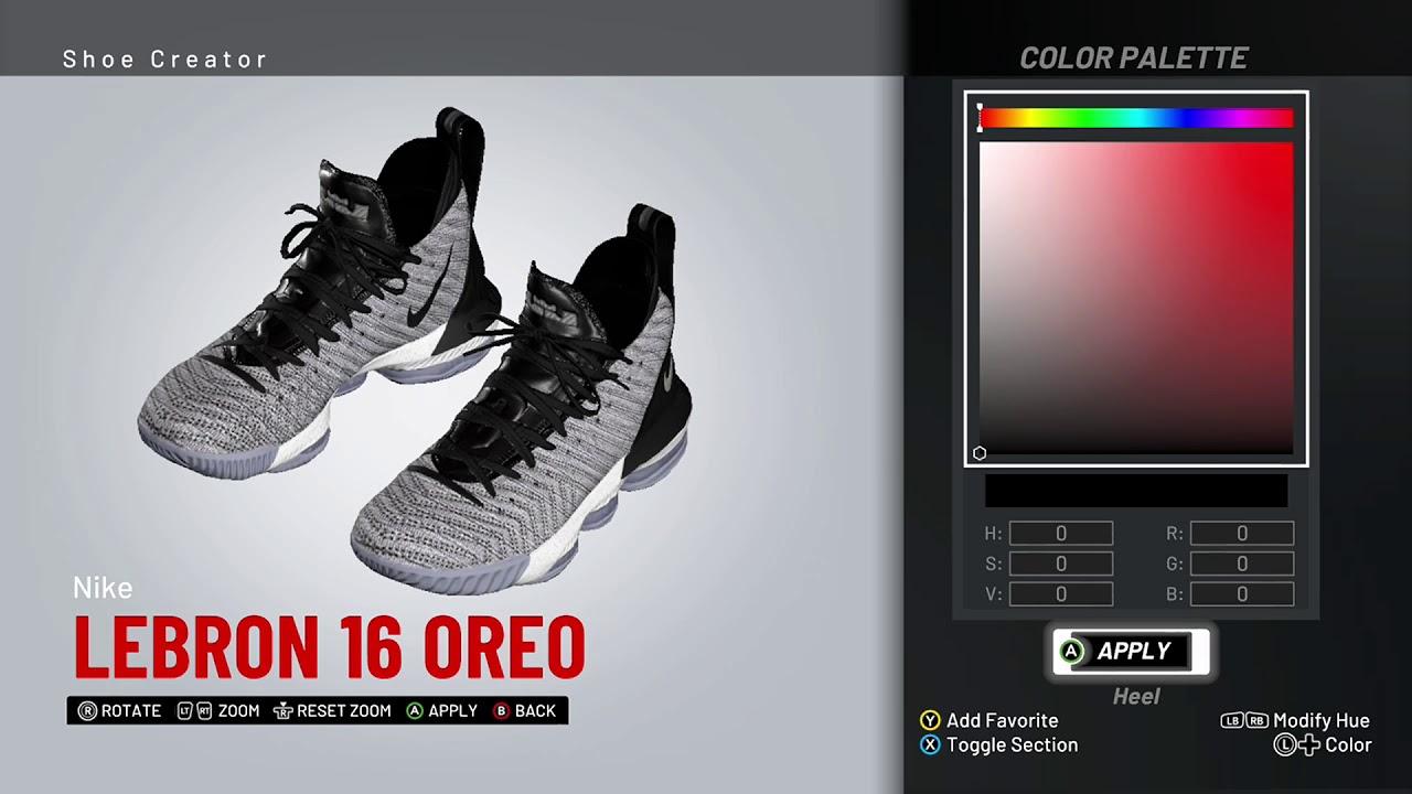 purchase cheap 2d6c8 3e9ba NBA 2K19 Shoe Creator - Nike LeBron 16