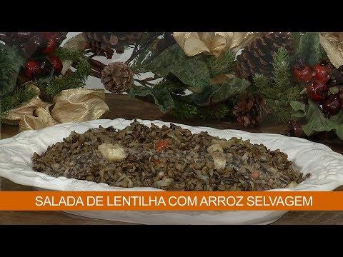 SALADA DE LENTILHA COM ARROZ SELVAGEM
