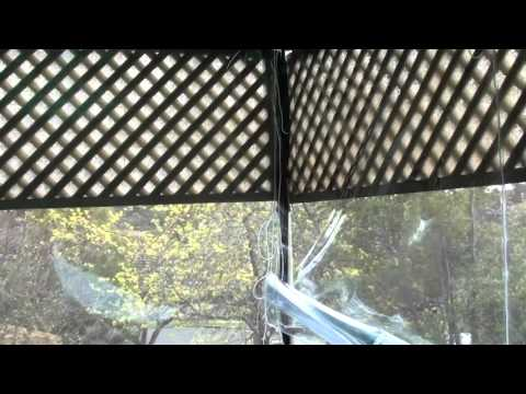 Patio Renovation 14 - Making the clear patio blinds and installing them