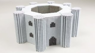 How to make Castel del Monte from 30000 Magnetic Balls | Magnetic Games