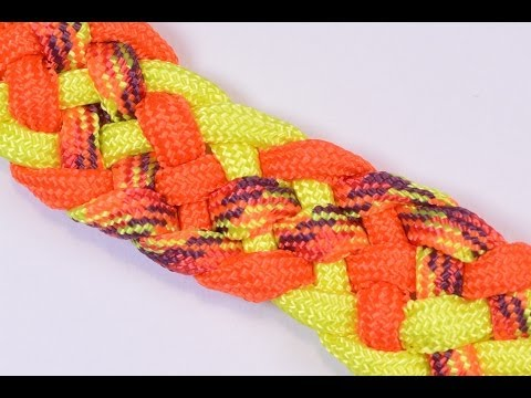 """Make the """"6 Strand French Sinnet"""" Paracord Bracelet with Buckle - BoredParacord"""