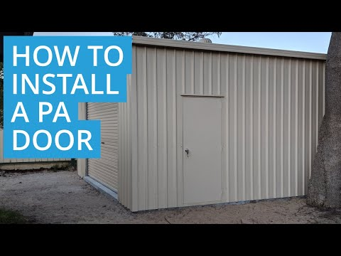 How to Build a Shed: Installing the Personal Access (PA) Door