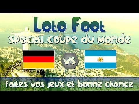 #Crezip   [Fr] Résultats Loto Foot Finale de la Coupe du Monde  - Allemagne vs Argentine