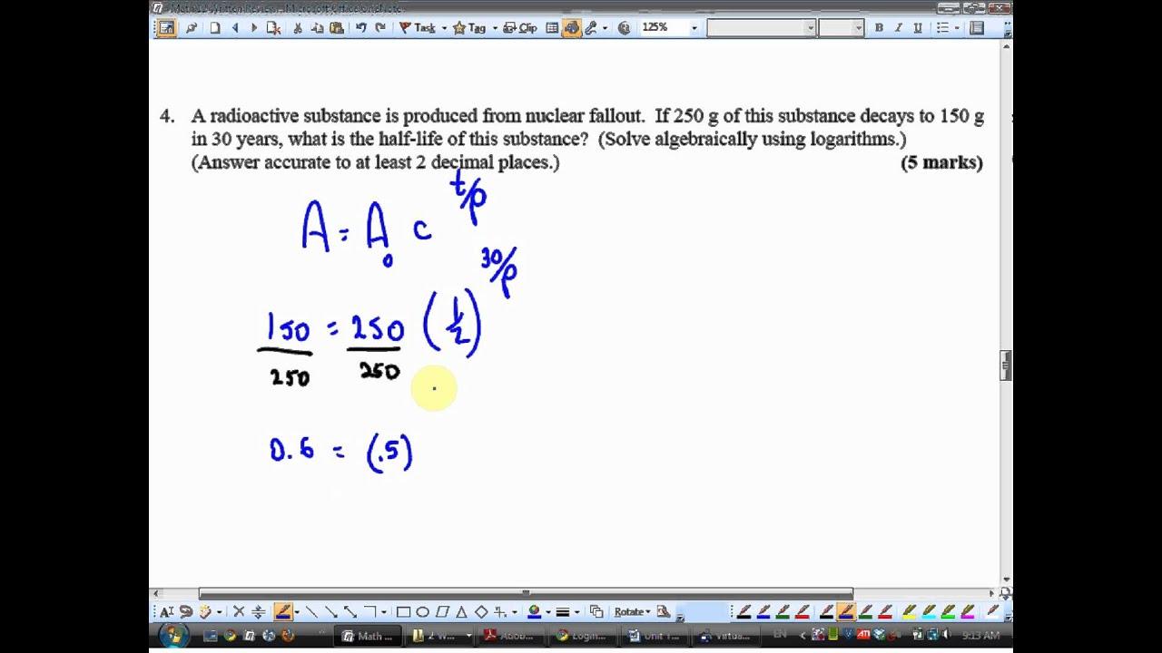 Math 12 Final Exam Review 2010