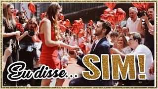 o pedido de casamento mais lindo fabi santina