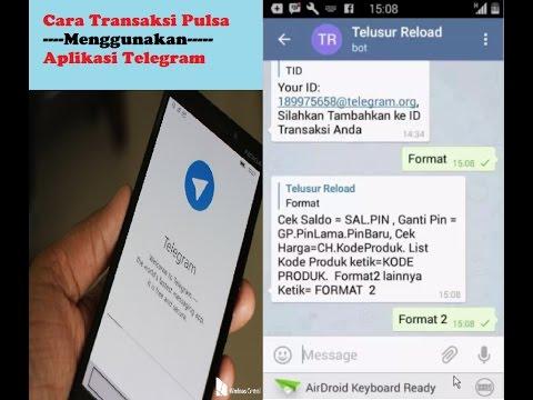 Cara Transaksi Menggunakan Telegram Center