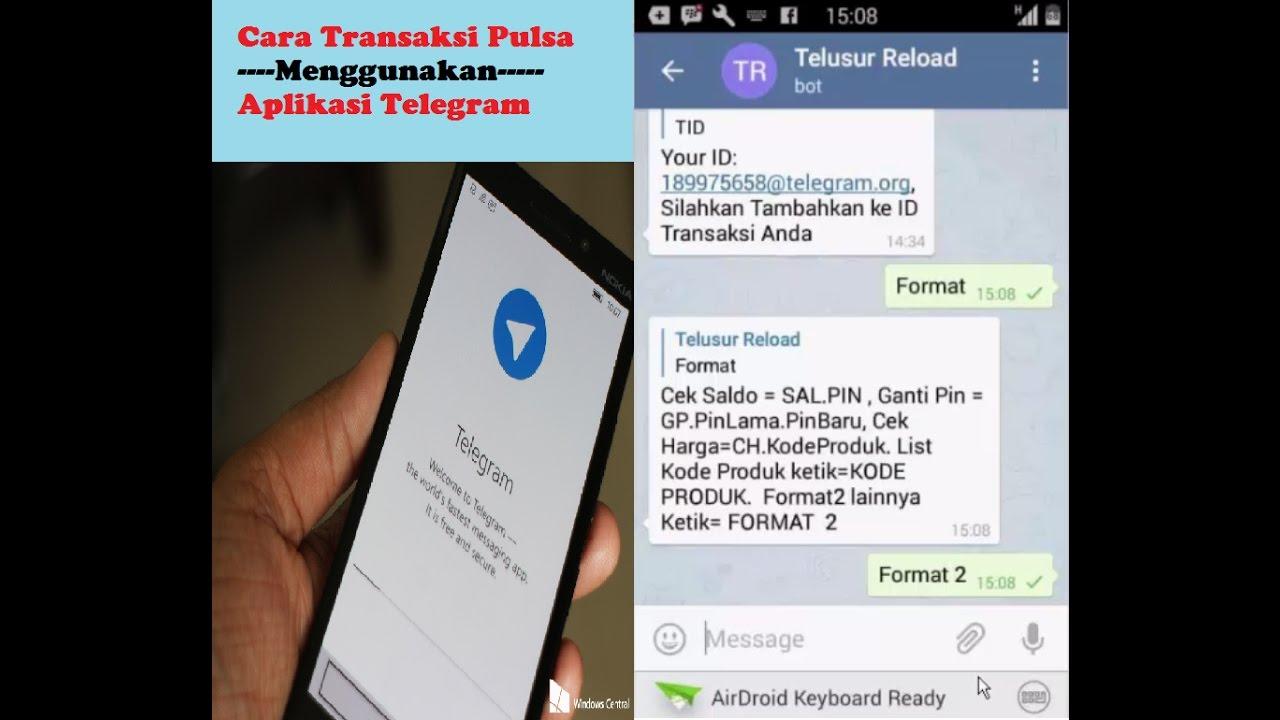 Cara Transaksi Menggunakan Aplikasi Telegram Youtube