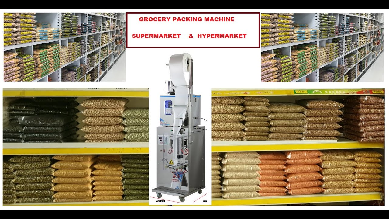 Download Automatic Grocery Packing machine  100gm, 250gm, 500gm, 1kg Low price for Supermarket  Hypermarket