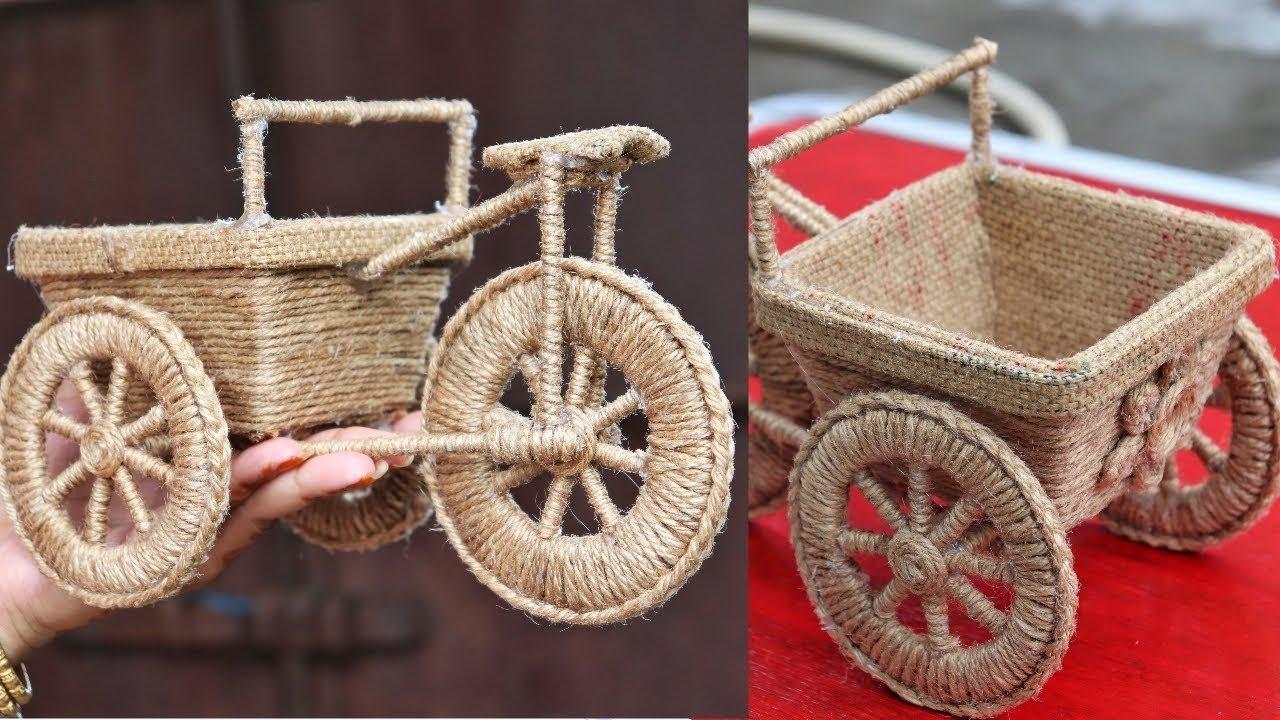Diy Jute Craft Idea Best Out Of Waste Diy Home Decorating Idea