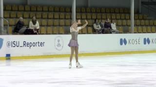 ISU 2015 Jr. Grand Prix Riga Ladies Free Skate Diana NIKITINA LAT ニキティナ 検索動画 3