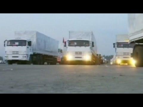 Russian media: Aid trucks head to Ukraine