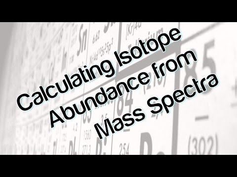 Calculating The Abundance Of Isotopes Using Mass Spectra