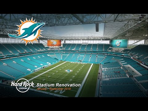 Miami Dolphins Hard Rock Stadium Renovation Time-Lapse
