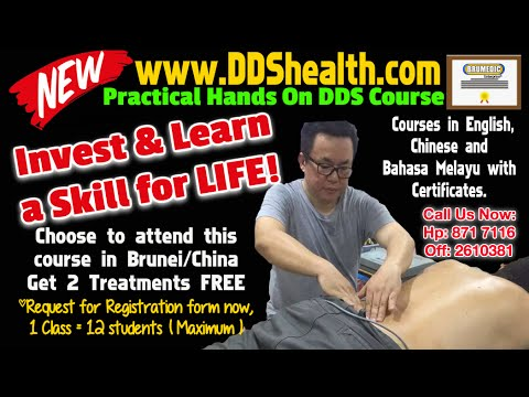 DDS Bio Therapy Course is open for registration in Brunei or China now...