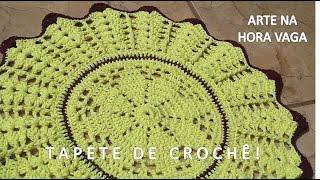 Fácil - Tapete de Crochê em Barbante, redondo - Arte e Artesanato/ Passo a Passo