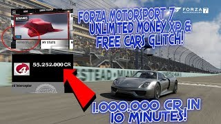 1,000,000CR IN 10 MINUTES! Forza Motorsport 7 Unlimited Money, XP & How To Get Free Cars Glitch 2017