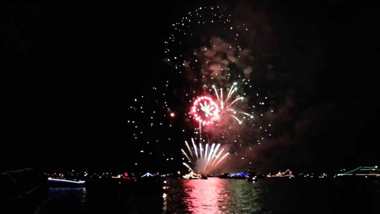 Vuurwerk verlichte botenshow 2013 Deel 2 - YouTube