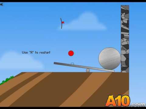 Прохождение флеш игры Красный шар 1 часть 1