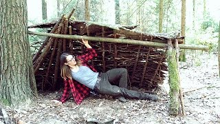 Building A Camp In The Woods Part 1