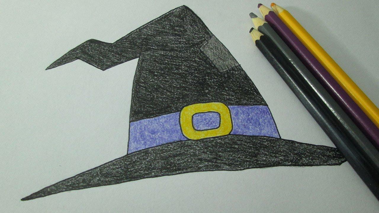 Cmo dibujar un sombrero de bruja  YouTube