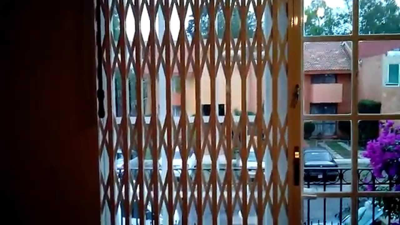 Rejas plegables y de ballesta youtube - Cerraduras para puertas metalicas ...