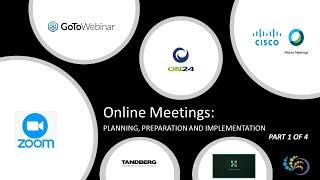 Online Meetings Planning Preparing and Implementation