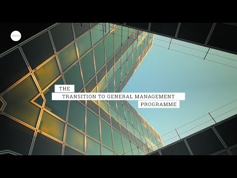INSEAD Transition to General Management Programme