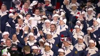 Выход сборной России на церемонии открытия Олимпиады Сочи, 07 02 14