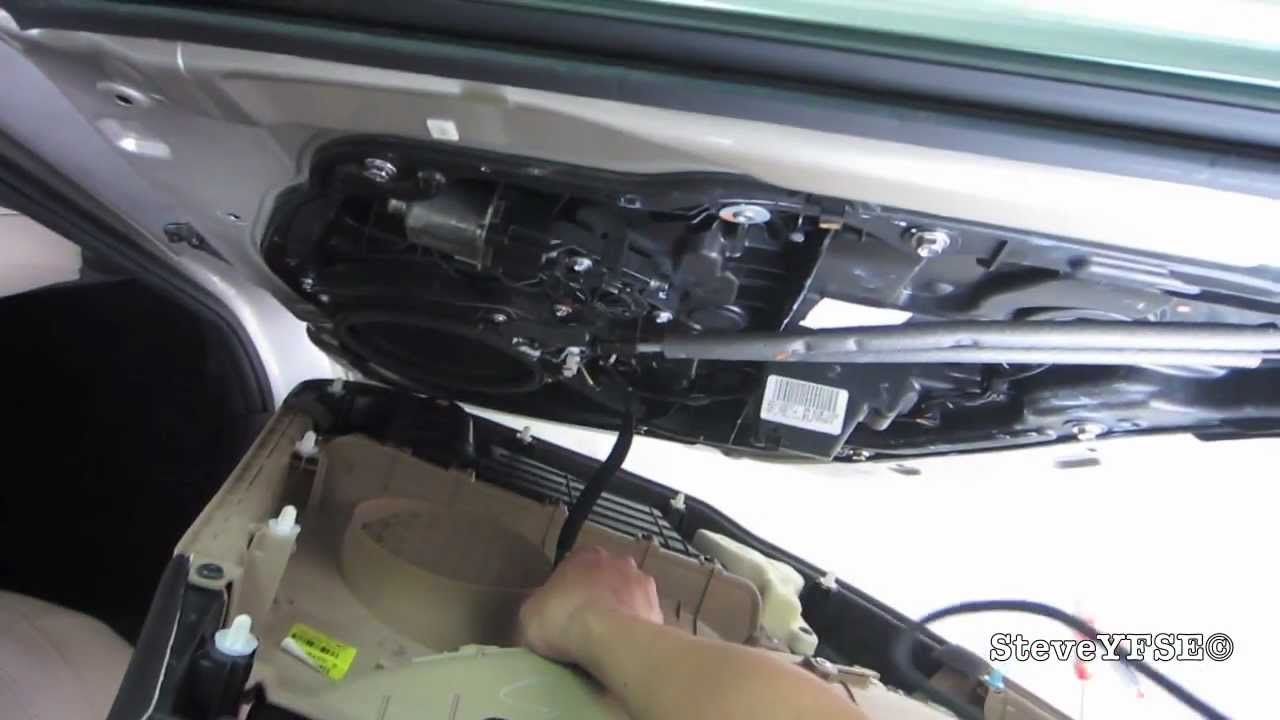 How To 2011 Hyundai Sonata Rear Passenger Door Removal