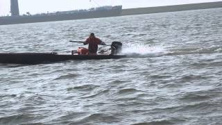 Catamaran with 8HP Mercury outboard engine