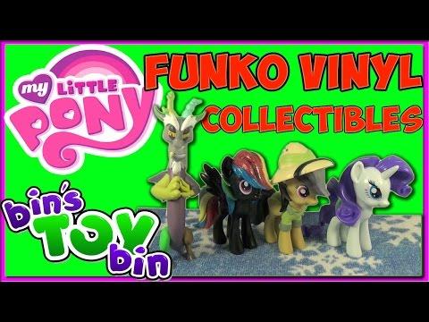 MLP Funko Vinyl Figures Discord, Rarity, Rainbow Dash, Daring Do! Surprise For Jon! By Bin's Toy Bin