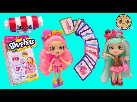 Shopkins Shoppies Peppa Mint & Bubbleisha Play Make A Match Game With Exclusive Unboxing Video
