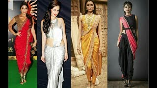 Latest Dhoti Saree Ideas / Beautiful Dhoti Style Saree Images//Indo-Western Dresses