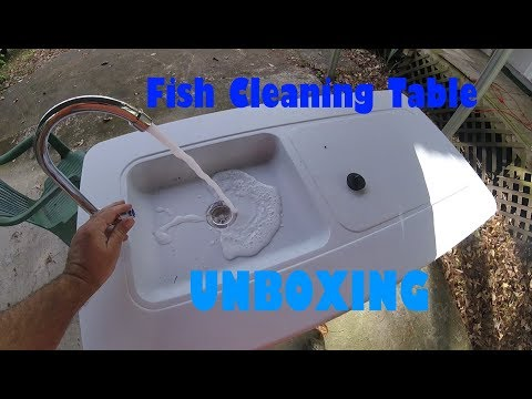 Multi-Use Outdoor Fish Cleaning Table Unboxing
