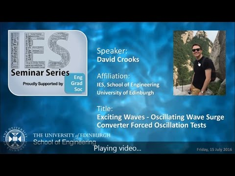 Exciting Waves - Oscillating Wave Surge Converter Forced Oscillation Tests - David Crooks