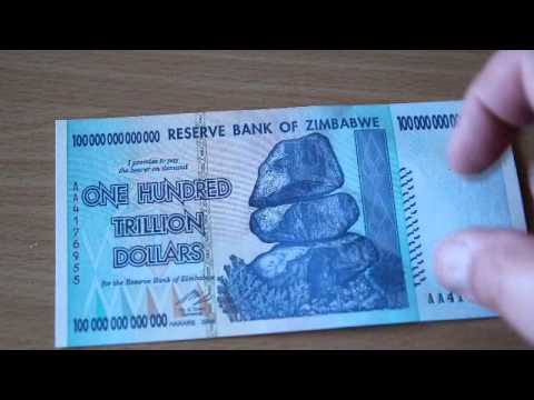 100 trillion dollars The largest legal Banknote ever printed